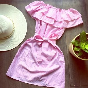 Pink Off the Shoulder Dress